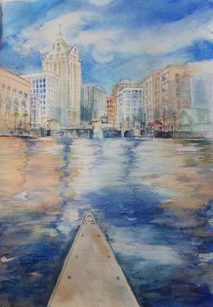 Commissioned - The Urban Pioneer (canoeing down the Milwaukee River)