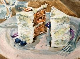 """Carrot Cake"" 8x10 $100"