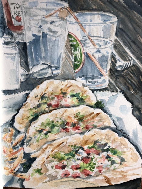 """""""Taco Lunch"""" 8x10 $100"""