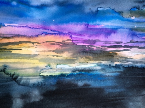 Watercolor Pouring